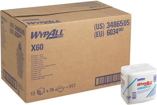 Wypall X60 1/4 gevouwen doeken 6034