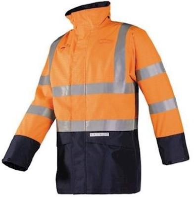 Sioen 7219 Elliston parka - fluo oranje/marineblauw - s