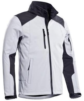Santino Tour softshell jas - wit/grijs - xl