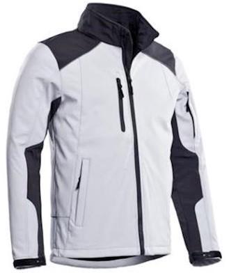 Santino Tour softshell jas - wit/grijs - 4xl