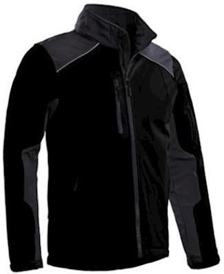 Santino Tour softshell jas - zwart/grijs - s