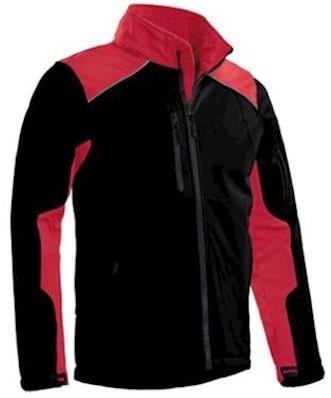 Santino Tour softshell jas - zwart/rood - 5xl