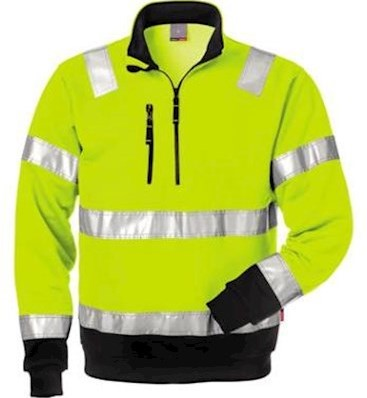Fristads Kansas 728 BPV sweater - fluo geel/zwart - s