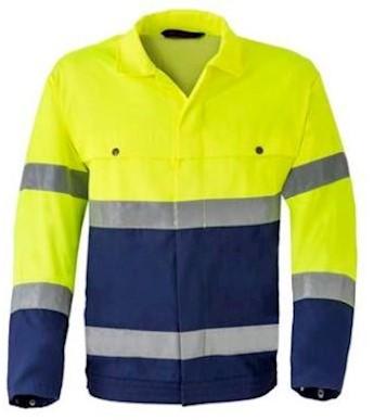 HAVEP 5105 jack - fluo geel/marineblauw - 54