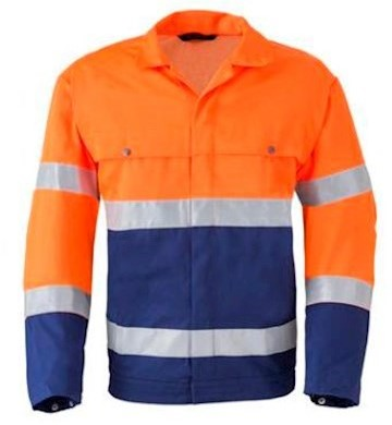 HAVEP 5105 jack - fluo oranje/marineblauw - 52