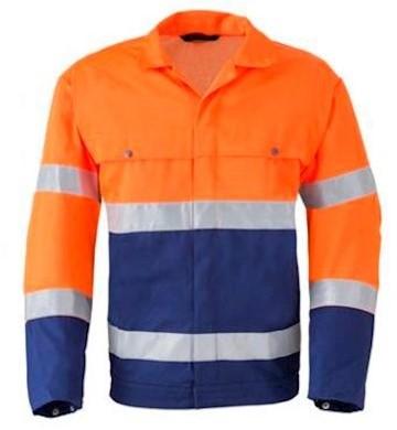 HAVEP 5105 jack - fluo oranje/marineblauw - 62