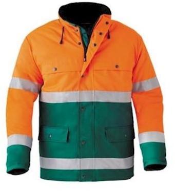 HAVEP 4133 parka - fluo oranje/groen - 3xl