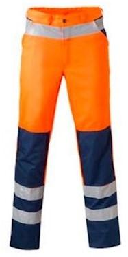 HAVEP 8410 broek - fluo oranje/marineblauw - 48