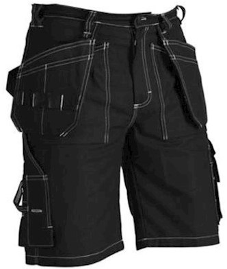Blåkläder 1534 1370 korte broek - zwart - c60