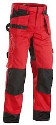 Blåkläder 1503 broek - rood/zwart - c48