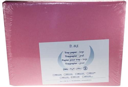 PURE Traypapier 28x36cm roze