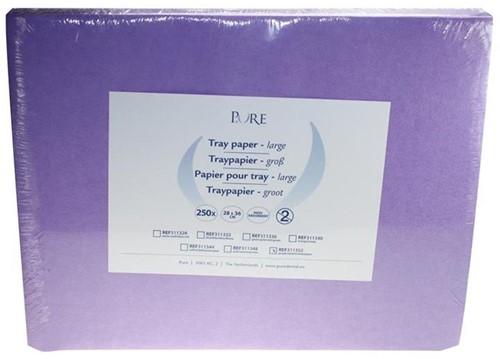 PURE Traypapier 28x36cm paars