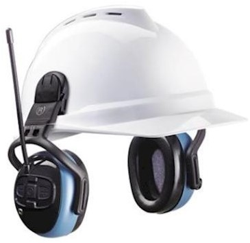 MSA left/RIGHT FM Pro gehoorkap met helmbevestiging