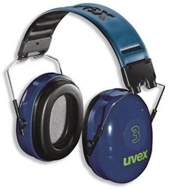 uvex 3 2500-002 gehoorkap met hoofdband