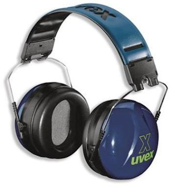 uvex x 2500-030 gehoorkap met hoofdband
