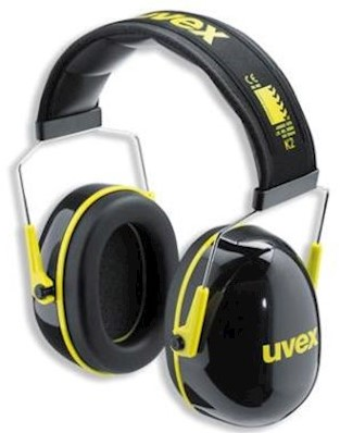 uvex K2 2600-002 gehoorkap met hoofdband