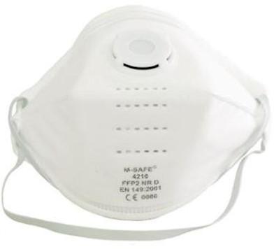 M-Safe 4210 stofmasker FFP2 NR D met uitademventiel