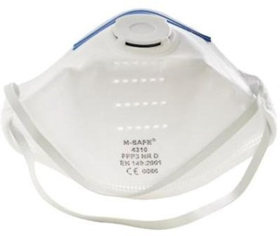M-Safe 4310 stofmasker FFP3 NR D met uitademventiel