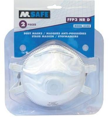M-Safe 6340 stofmasker FFP3 NR D met uitademventiel in blisterverpakking