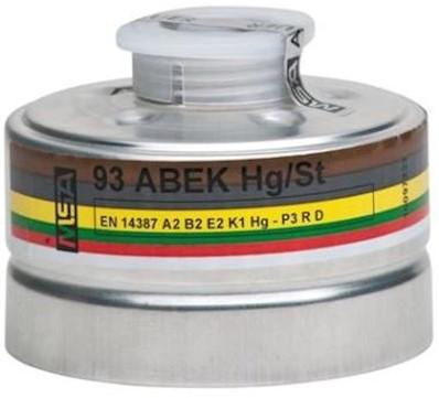 MSA combinatiefilter 93 A2B2E2K1Hg-P3 R D