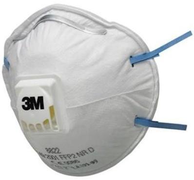 3M 8822 stofmasker FFP2 NR D met uitademventiel