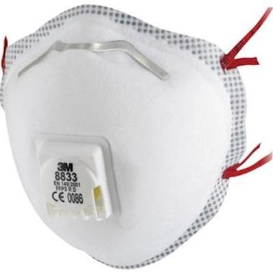 3M 8833 stofmasker FFP3 R D met uitademventiel