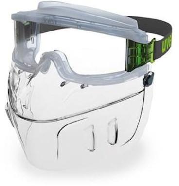 uvex ultravision 9301-555 ruimzichtbril met gelaatsbescherming