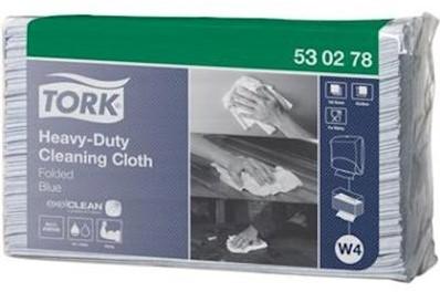 Tork Heavy-Duty Cloth Folded Blue werkdoek