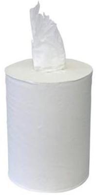 1-laags Midirol poetsrol, 275 m x 20 cm, cellulose, kokerloos, wit
