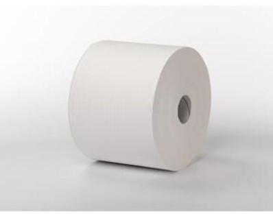 1-laags Maxirol poetsrol, 1000 m x 24 cm, cellulose, wit