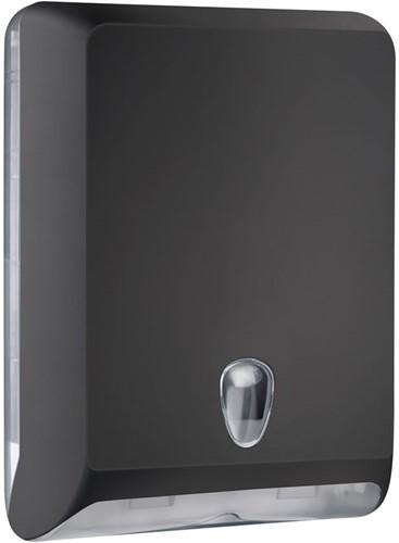 Handdoekdispenser zwart