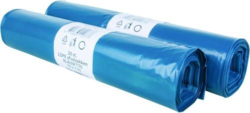 Afvalzak LDPE 70mu 70x110cm (10x20stuks)